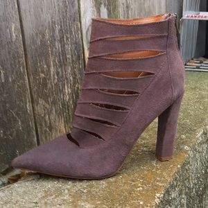 Steve Madden Purple/Brown Leather Slit Boots W-10M
